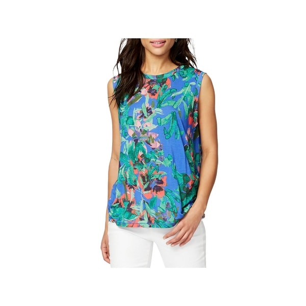 75ecdd3f69e Shop Rachel Rachel Roy Womens T-Shirt Floral Print Scoop Neck - Free  Shipping On Orders Over $45 - Overstock - 22339484