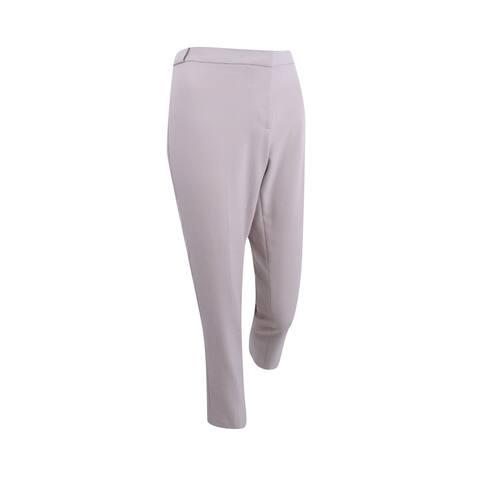 Calvin Klein Women's Petite Highline Woven Stretch Pants (6P, Khaki) - Khaki - 6P