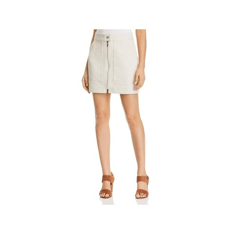 T Tahari Womens Bitsy Mini Skirt Zip Front A Line