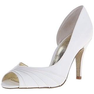 Adrianna Papell Womens Flynn Satin Pumps D'Orsay Heels