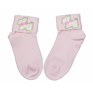 Scotty Dog with Pink Bow Bobby Socks for Girls