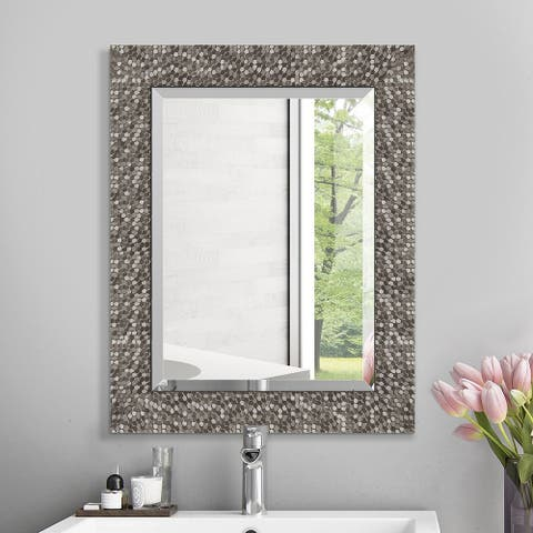 Copper Grove Tichla Beveled Rectangular Accent Mirror with Mirrored Frame - 19*24*0.75