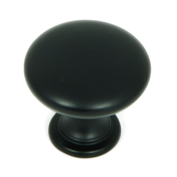 Stone Mill Hardware - Matte Black Round Cabinet Knobs (Pack of 5). Opens flyout.