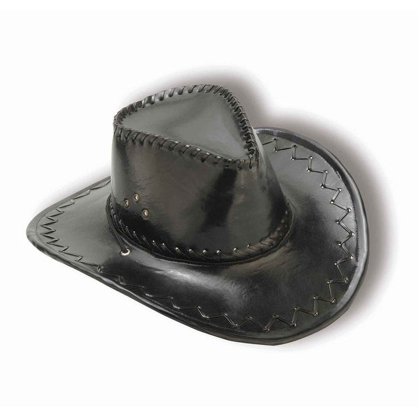 2ab48c4a034 Shop Adult Cowboy Hat - Black - Free Shipping On Orders Over  45 -  Overstock.com - 13673003
