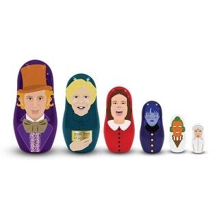 Willy Wonka 6-Piece Plastic Nesting Doll Set - multi