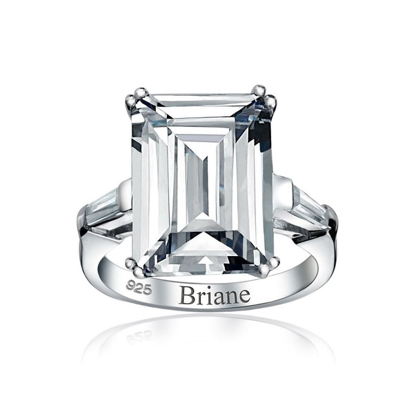 Statement Ring 925 Sterling Silver White Cubic Zirconia CZ Jewelry for Women