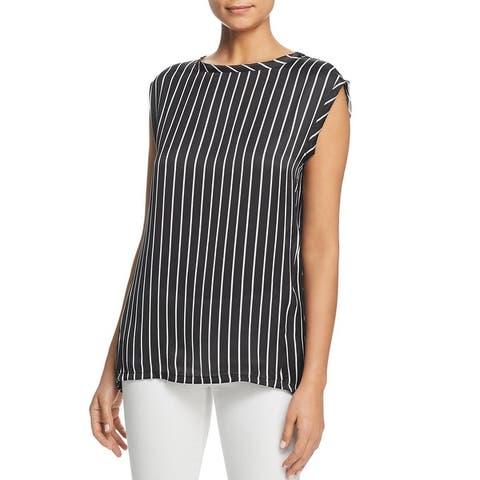 Kenneth Cole New York Womens Blouse High-Low Circle