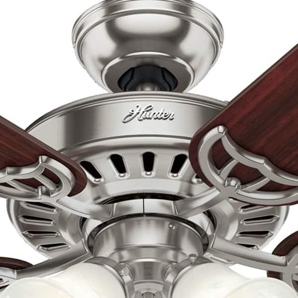 Hunter Fan Studio Series 52 Brushed Nickel Ceiling Fan W Light Brushed Nickel Overstock 8362594