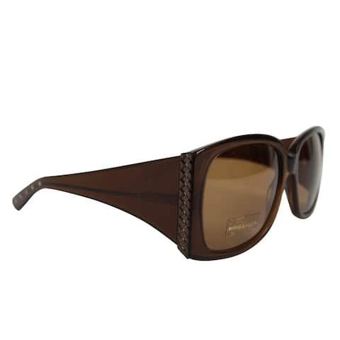 Bottega Veneta Women's Square Brown Acetate Medium Sunglasses with Box 240701 2025