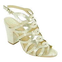 Vince Camuto Womens Norla Leather Open Toe Casual Strappy Sandals