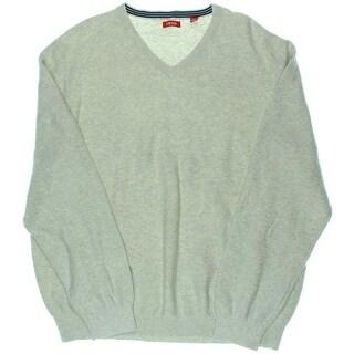 Izod Mens V-Neck Knit Pullover Sweater