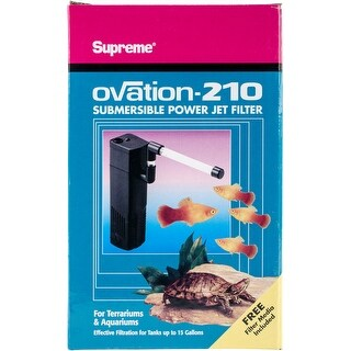 For Tanks Up To 15 Gallons - Supreme Ovation 210 Internal Filter