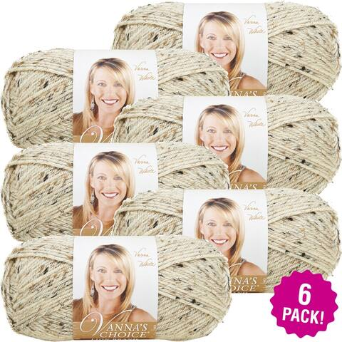 Lion Brand Vanna's Choice Yarn - 6/Pk-Oatmeal - Cream