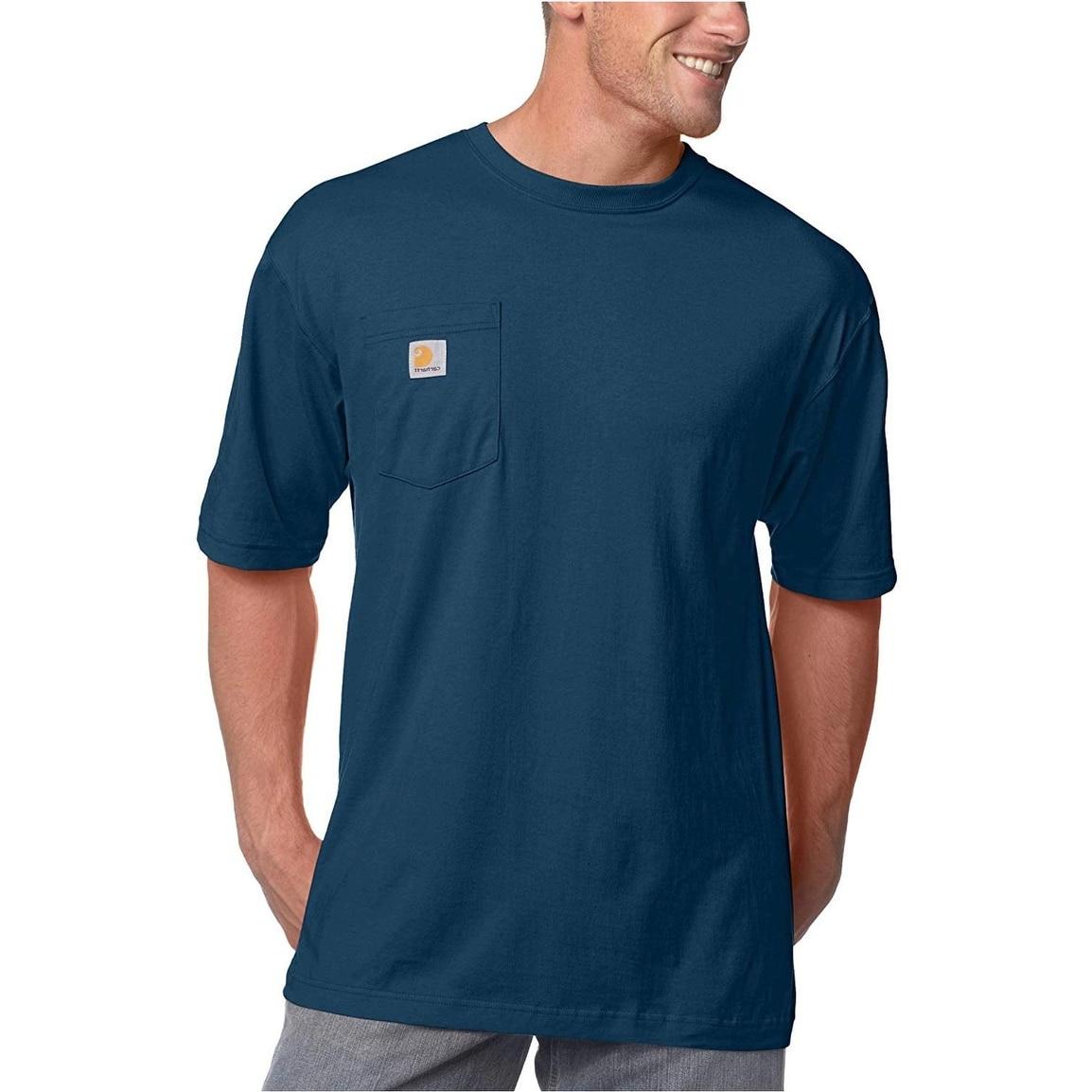 Carhartt Men's K87 Workwear Pocket Short Sleeve T-shirt, Navy, Size X-Large Tall - X-Large Tall