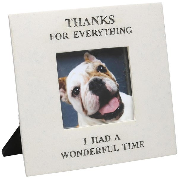 Thanks For Everything I Had A Wonderful Time Pet Photo Memorial Picture Frame Image