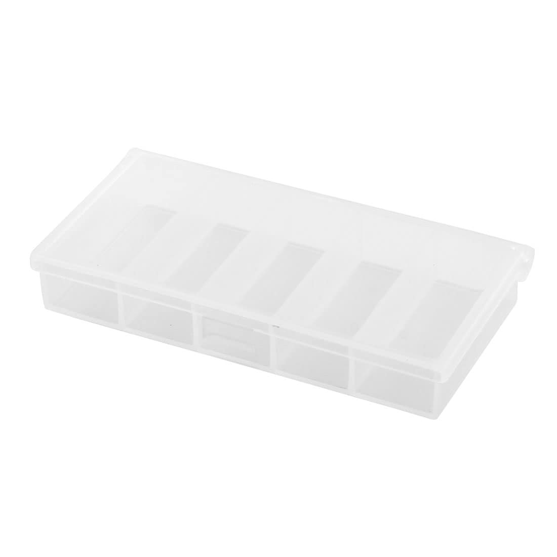 Angling Tackle Plastic 5 Compartments Fishing Lure Bait Storage Box Holder Clear
