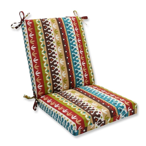 36 5 Bohemian Striped Outdoor Patio Chair Cushion With Ties Brown