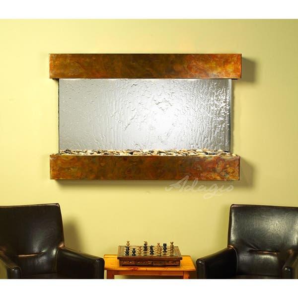 Wall Fountain Silver Mirror