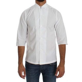 Dolce & Gabbana Dolce & Gabbana White 3/4 Sleeve Regular Fit Shirt - 37