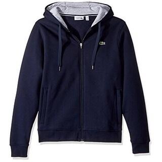 Lacoste Mens Sport Full zip Hooded Fleece