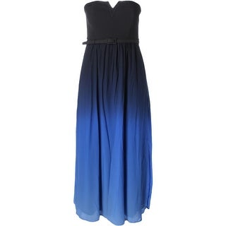 City Chic Womens Maxi Dress Ombre Strapless - 14W
