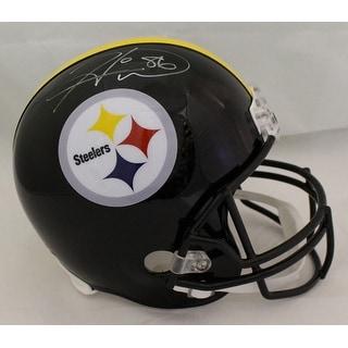 Hines Ward Autographed Pittsburgh Steelers Replica Helmet JSA