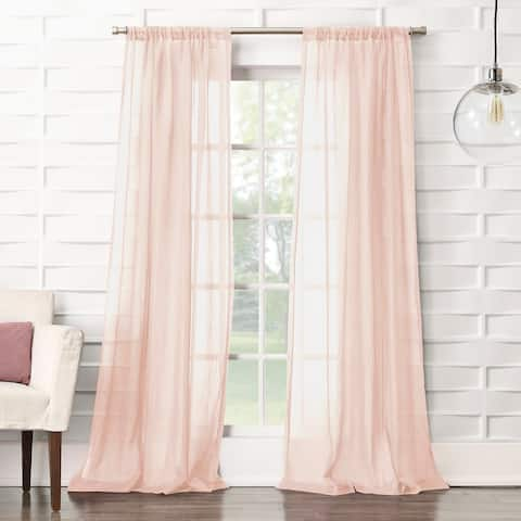 No. 918 Ladonna Crushed Texture Semi-sheer Rod Pocket Curtain Panel