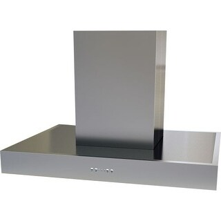 Miseno MH10842AS 600 CFM 42 Inch Wide Stainless Steel Quadruple Light Island Range Hood with LED Electronic 3 Speed Controls