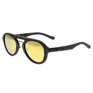 Earth Wood Cruz Unisex Wood Sunglasses - 100% UVA/UVB Prorection - Polarized/Mirrored Lens - Multi