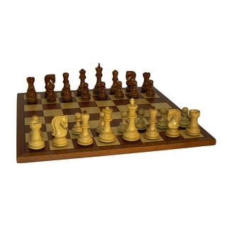 Sheesham Old Russian Chess Set With Sapele Board - Multicolored