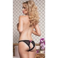 Open Back Fence Mesh Panty