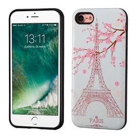 Insten Pink Eiffel Tower Hard Snap-on Dual Layer Hybrid Case Cover For Apple iPhone 7