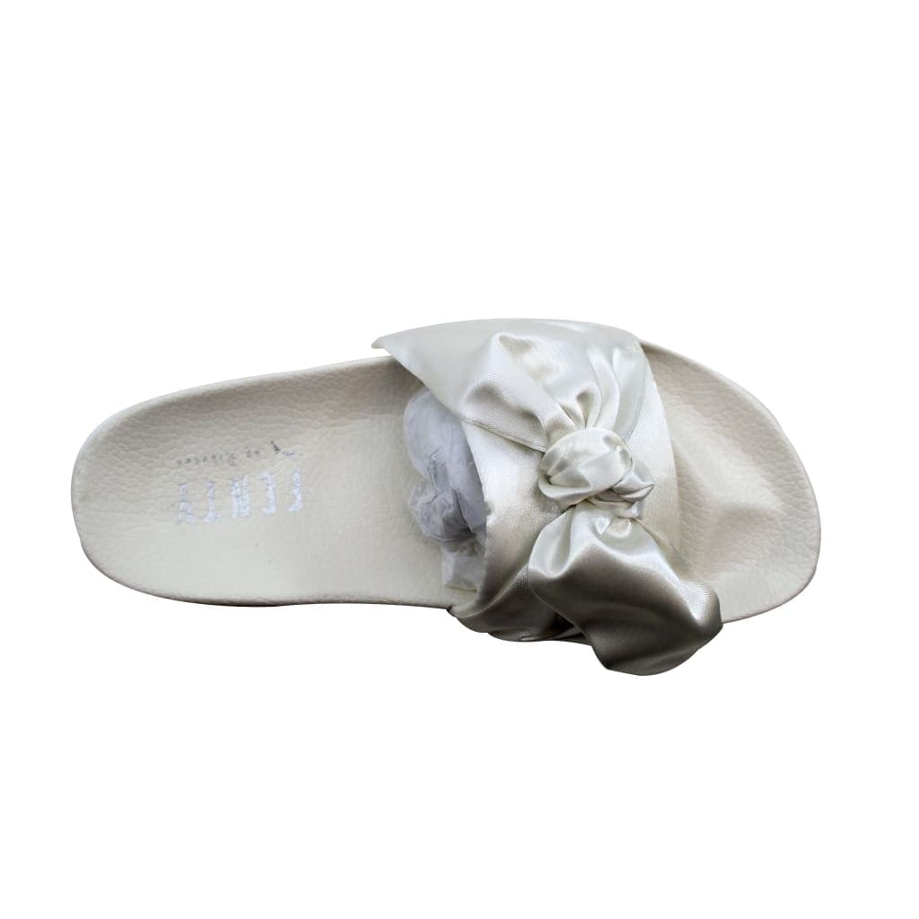 best authentic a338f c2b88 Puma Women's Bow Slide Marshmallow/Puma Silver Rihanna Fenty 365774 02