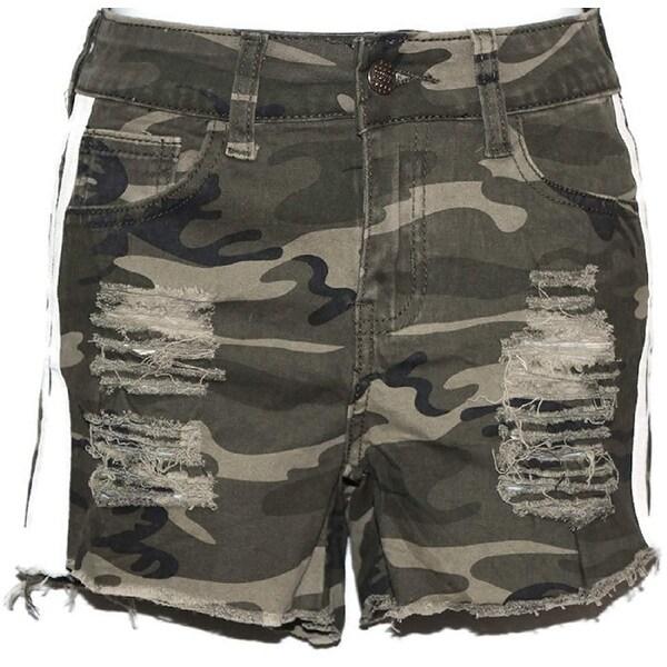 Camouflage Women high Waist Very Sexy and Stylish Distress Mini Shorts Pants S - Small