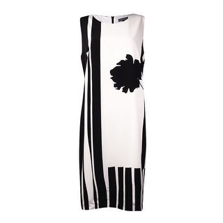 Vince Camuto Women's Flower Print Stripe Dress (12, New Ivory) - new ivory - 12