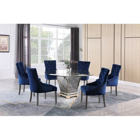 Best Master Furniture 60 Inches 7 Pieces Dining Set