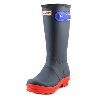 Hunter Org Kids First Gl Box Youth Round Toe Synthetic Blue Rain Boot