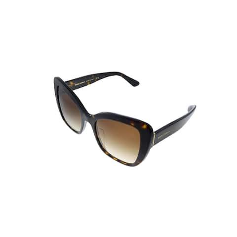 Dolce & Gabbana DG 4348F 502/13 54mm Womens Havana Frame Brown Gradient Lens Sunglasses