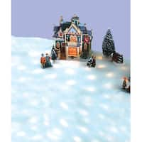 "42"" B/O LED Snow Blanket for Christmas Village Displays - Warm Clear Lights"
