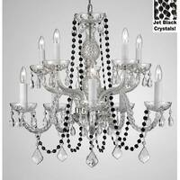 Crystal Chandelier With  Black Crystals