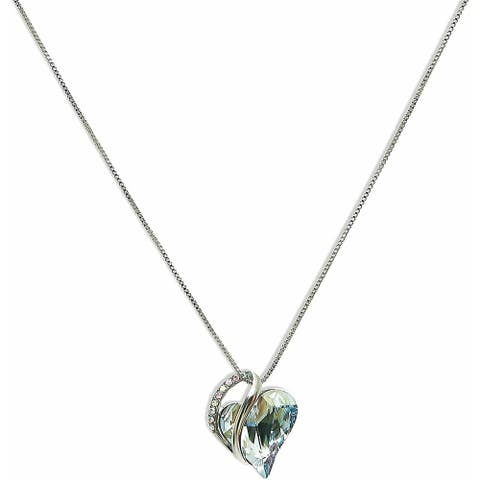 Sterling Silver Crystals Jewelry Pendant for Women