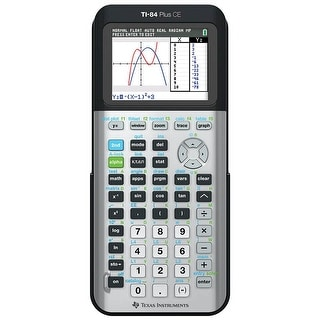 Texas Instruments 84PLCE/TBL/1L1/AC TI-84 Plus CE Graphing Calculator - Space Gray