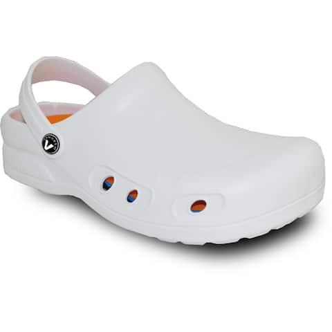 VANGELO Men Slip Resistant Clog RITZ White