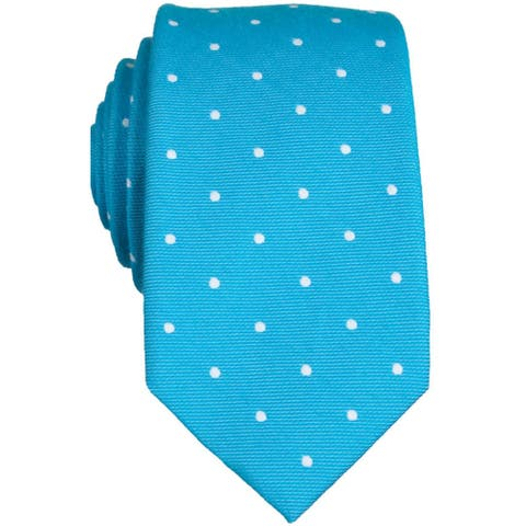 Penguin Mens Banville Dot Self-tied Necktie, blue, Classic (57 To 59 in.) - Classic (57 To 59 in.)