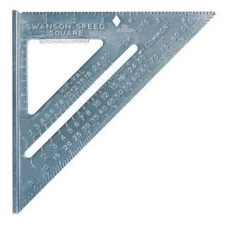"Swanson T0101 Speed Square, 7"" x 7""|https://ak1.ostkcdn.com/images/products/is/images/direct/251da1eb86b84120816583d7b4a80ddabd211e90/Swanson-T0101-Speed-Square%2C-7%22-x-7%22.jpg?impolicy=medium"