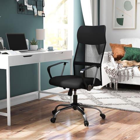 Furniture of America Emilio Black Height Adjustable Ergonomic Office Chair