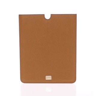 Dolce & Gabbana Dolce & Gabbana Brown Leather iPAD Tablet eBook Cover Bag