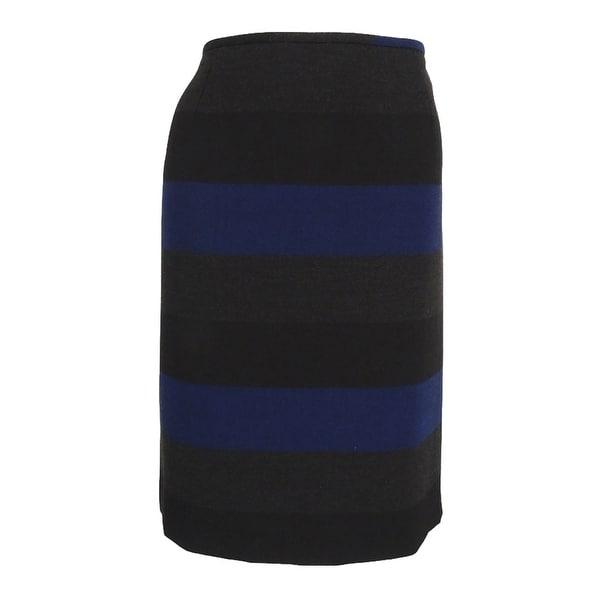Tahari Women's Striped Vented Pencil Skirt