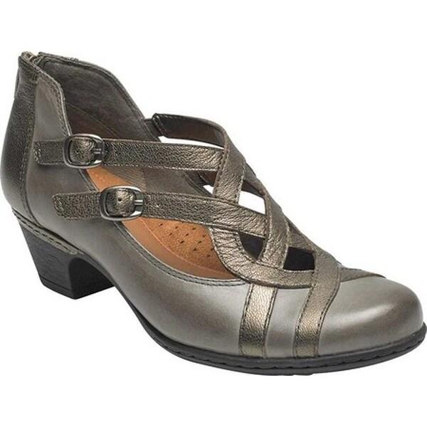 56dee67e7338 Rockport Women  x27 s Cobb Hill Abbott Curvy Block Heel Grey Multi Leather