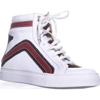 Belstaff Dillon High Top Fashion Sneakers, White